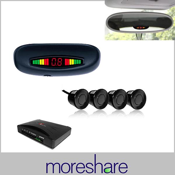 LED Car Parking Sensors Assistance System 3 Colors Distance Display Rear Roof Mounting 4 Parking Sensor Radar Car Parking Assist(China (Mainland))