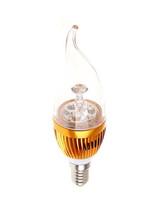 3W Dimmable AC85~265V Warm White /White LED Candel Light LED bulb lamp LED spot Light