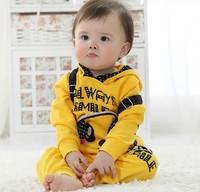 Hot sale new baby boy spring-autumn 2 pcs 100 cotton backbag panda clothing set new fashion 2014.baby boy sport suit coat