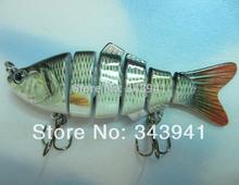 Alto nível de realismo 6 seções swimbait Pesca Isca 10cm / 18g Crankbait Hard Bait Fish Hook Pesqueiro(China (Mainland))