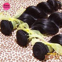 Queen Hair Malaysian Loose Wave Virgin Hair 4pcs/lot Free Shipping By DHL,Grade 5A,1B Natural Color 100% Human Hair