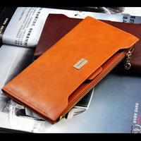Free Shipping Hot Sale High Quality Women's Genuine Leather Wallet Zipper Horizontal Handbag Cowhide Purse Card Holder 5 Colours