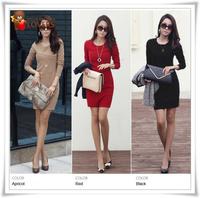 New 2014 HOT High quality Women's Long-sleeve Dress autumn -summer women autumn one-piece dress women DT-308