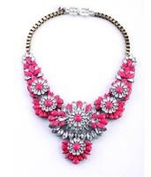 BigBing Fashion  fashion accessories flower crystal gem women's necklace  N808