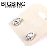 BigBing Fashion fashion jewelry platinum color brief all-match crystal luxury wedding drop crystal stud earring  L786
