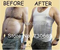 2014 sale male men's body shaper slimming tight drawing abdomen belly fat corset vest sport gilet top shapwear  plus size