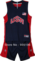 Basketball suits Red Blue White American James National Team Jersey Dream 10 USA Basketball Uniforms Retail/Wholesale 5 Sizes