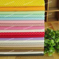 Polka Dots 19 Assorted Pre-Cut Twill Cotton Quality Quilt Fabric Fat Quarter Tissue Bundle Charm Sewing Textile Cloth 45x45cm