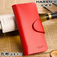 Harrms Women's long design wallet women's genuine leather hasp cowhide wallet