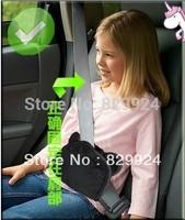 2pcs/Lot Free Shipping Hand-Made Bear Children Car Safety Belt Adjuster /baby child safety belt positioner