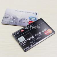 2015 new Fashion 3 styles Waterproof Super Slim Credit Card USB Flash Drives 64GB 32GB 16GB Pendrives Thumbdrives