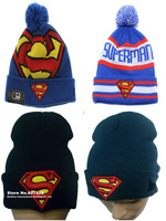 High Quality Beanie hat ,superman wool warm knitted caps and winter hats for man and women hip hop warm Skullies & Beanies