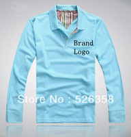L1022 Free Shipping Men's Long Sleeve Shirt Slim Fit Casual Camiseta Cotton Polo Shirts Smith Famous Brand 5 Colors M,L,XL,XXL