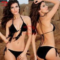 PROMOTION Beaded Halters Padded Girls sexy Fashion swimwear S.M.L.XL.XXL