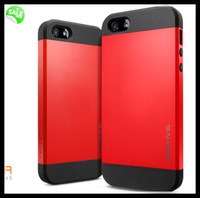 Luxury quality SLIM ARMOR SPIGEN SGP case for iPhone 5 5s 4 4S pc silicone hybrid dual layers Back Cover