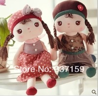 Free shipping 40cm Metoo rabbit angela the girl plush toy placarders cloth doll, birthday & Christmas gift for children,2pcs/lot