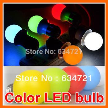 E27 1W 1Watt LED IndoorsRed / Yellow / Blue / Green / White / Warm White Colorful LED Light Bulb Lamp For Home Lighting