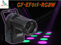 5pcs / LED lamp RGBW small spotlights, stage lighting Laser Light, DMX control professional dj equipment