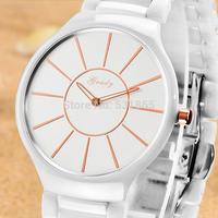 Grady fashion ceramic ladies watch with fine workmanship women wristwatches free shipping