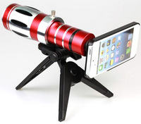 Free Shipping  20X Zoom Optical Zoom Telescope Telephoto Lens For Apple iPhone 5 with tripod