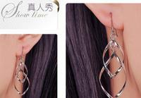 925 Silver Long Earrings Dangle Chic Hot Sexy Women Beauty Fashion Trend Vintage Jewelry