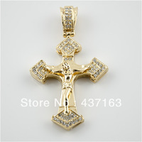 Jesus Jewelry 18K Gold Plated men Cross Pendants Choker Necklace Chain Jewellery Wholesale Free Shipping XX070