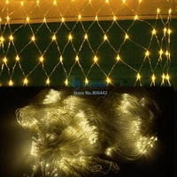 4Pcs/Lot 300 LED String Light Net Mesh Fairy Lights Decoration Lighting for Christmas Party Wedding 220V EU 4Colors TK0579