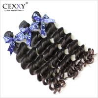 Cexxy Hair Products Malaysian Virgin Hair Human Hiar Weaves Natural Wave Natural Color 3PCS/LOT Rosa Hair Free Shipping DHL