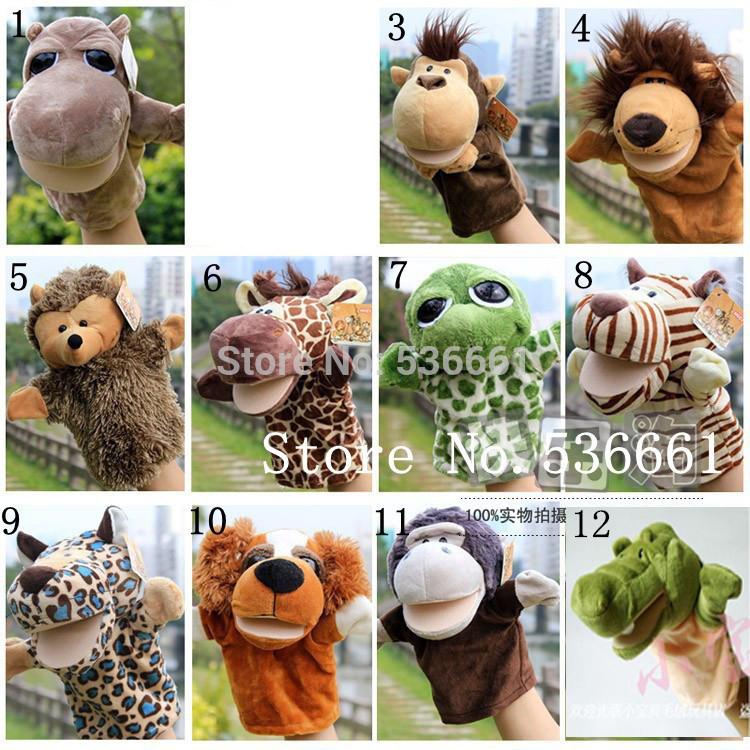 NICI Puppets 5 pcs/lot, monkeys, turtles, tigers, lions, hippos, gorillas, hedgehogs, giraffes, leopards, Crocodile , dogs(China (Mainland))