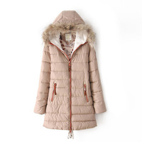 European style 2013 winter new Fashion Women's long sleeve PARKA ladies Winter warm parka hood overcoat thick clothing 2964