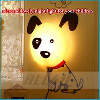 NiceNovelty Wallpaper Lamp  DIY Paper Wall Lamp Cartoon Atmosphere night Light 4 Models(dog, flower, pig, journey) in stock