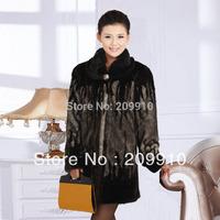 Free Shipping ! Middle-Age women winter clothing imitation mink marten velvet  fur overcoat   XL- 5XL