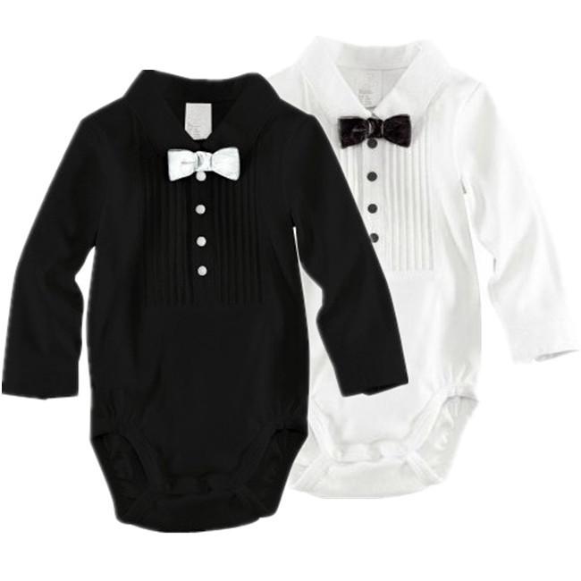 1 pcs bébé barboteuses taille enfant garçons 70-100cm papillon gentleman vêtements pour bébés en coton porter pour enfants 3-24months long jumpsuit manches