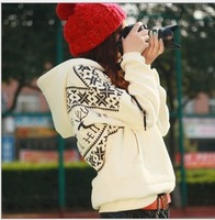 Promotion! 2013 Winter Christmas Korean simple and lovely ladies Hoodies Women Fleece thick  deer sweaterS-XXL free shipping