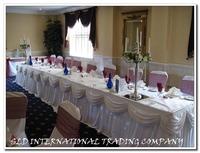 5 Ice silk Pleated Table Skirting Table Skirt Ruffled Table Skirt for Wedding White Table Skirting Wholesale