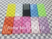 New 2013 phone cover for Iphone 5 case 5S 5C Slim striped transparent colorful  water/dirt/shockproof