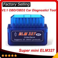 2014 Latest Version V2.1 Super mini elm327 Bluetooth OBDii / OBD2 Wireless Mini elm 327 Works on Android Torque In stock