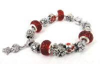 Free shipping New Fashion European Style Disco Ball Charm Bracelet For Women bracelet bangle Gift Jewelry