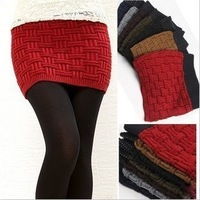 Hot Sale Fashion winter season and spring autumn women's thick woolen hand knitting short sweater skirt WF-412
