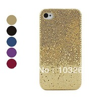 Free shipping Shining Lagging Style Protective Cover Case for iPhone 4 4S (Assorted Colors)