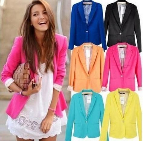 Casual Cotton Blazer For Women Blue Casual Women Blazers