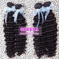 "3pcs/lot,peruvian virgin hair Deep Curl/wave hair Queena hair products,Grade 5A 12"" to 30inch,mixed length 100% unprocessed"
