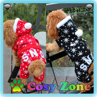 DG038 Snow Winter Warm Dog Jumpsuit Chihuahua Teddy Dog Clothes Cotton Puppy Dog Clothing Fashion Pet Apparel