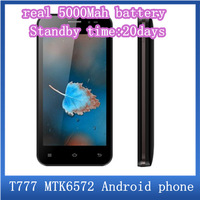 "5000Mah Battery Standby time 20day MTK6572 Dual Core 1.2Ghz 512M RAM 2G ROM Android 4.2 4.5"" HD screen 5.0M Camera android phone"