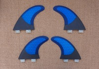 free shipping/carbon fcs surf surfboard quads quad fins/fin/