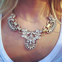 Promotion 2013 Fashion  Crystal Collar Statement Necklaces Personalized Vintage Retro Choker Jewelry  For Women(China (Mainland))