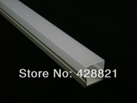 2 meters FREE shipping 2m aluminum proile fitted with Frosted PC cover for width up to 16mm led strips corner profile