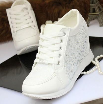 Sport scarpe da donna pizzo bling all'interno più economico scarpe da ginnastica scarpe da ginnastica tacchi stivali stivaletti