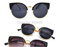 2015 Sunglasses Women Brand Designer Sun Glasses Clubmaster Gafas De Sol Women Cat Eye Vintage Oculos De Sol Feminino 52107