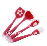 4 Pc Silicone Kitchenware kitchen set cooking tools kitchen utensils set